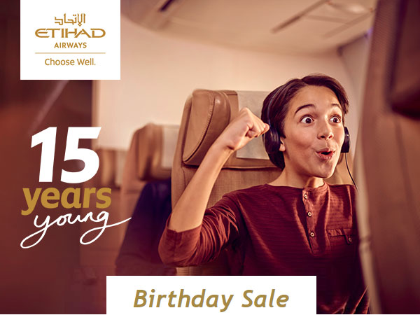 Airline News: ETIHAD birthday SALE