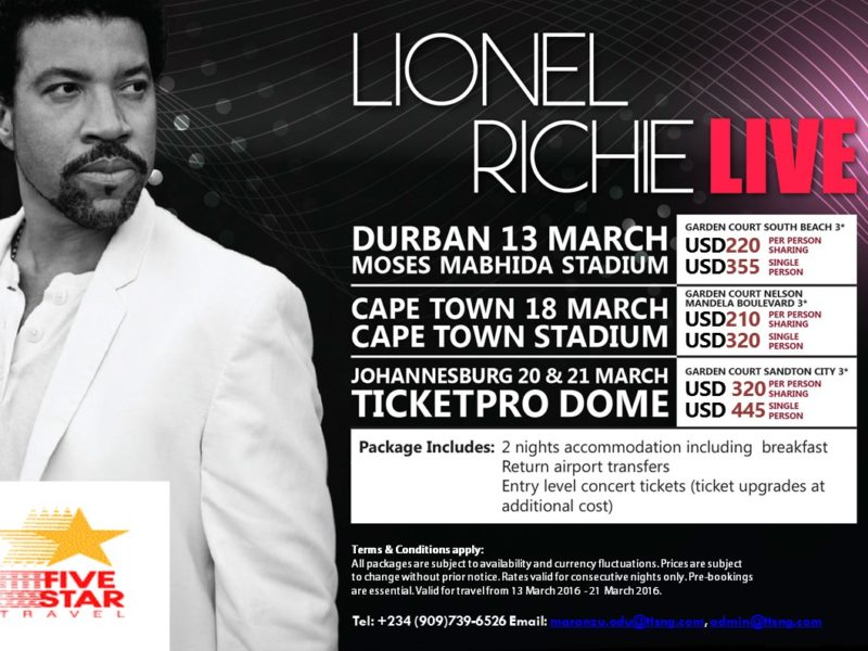 Weekend Deal: Lionel Richie Live in SA